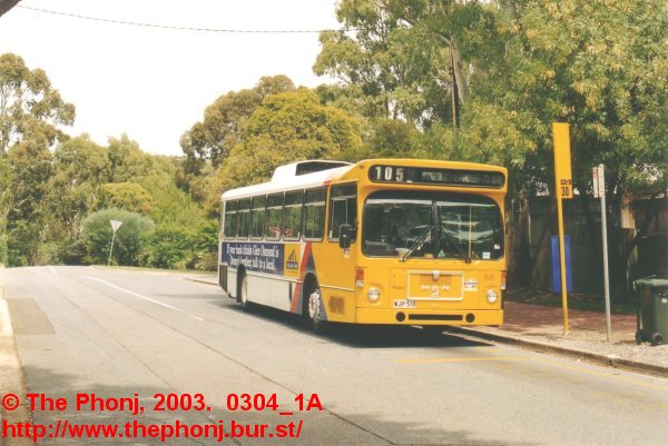 1849 at the Koonunga Ave terminus of the 105 route