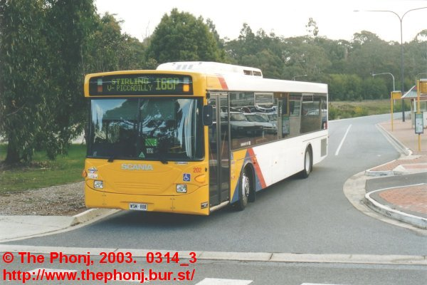202 at Crafers Park 'n Ride