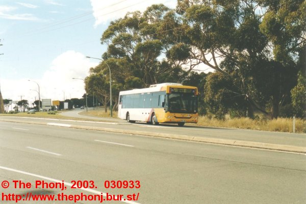 2711 on 733 approaching stop 34, Shepherds Hill Road